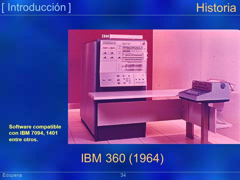 Historia IBM 360 (1964) [ Introducción ]